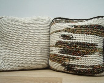 Set, Knitting Pillow, White Pillow, Home Decor, Decorative Pillows, Knit Home Decor, Cable Knit Pillows, Knit Pillow Cover, Pillow Set