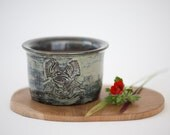 BONSAI / Shohin Pot - Samurai - Unique, hand sculpted - XIV-01-078
