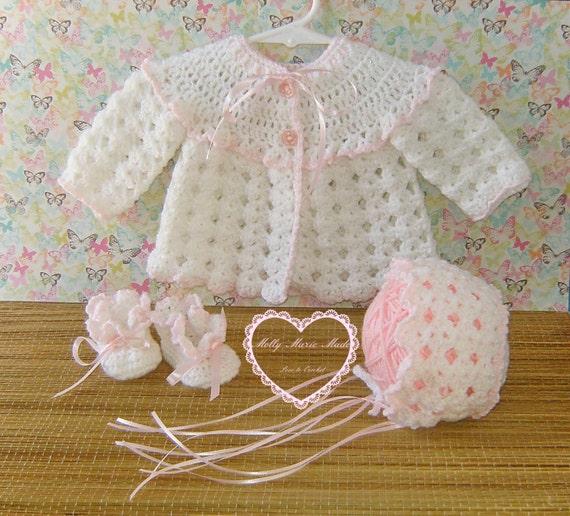 Crochet Sweater Set For Baby