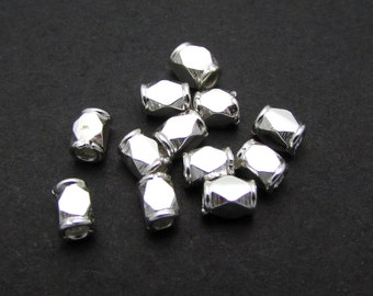 10 Pcs, 4mm, Sterling Silver Bead