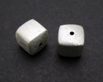 2 Pcs, 6mm, Sterling Silver Bead