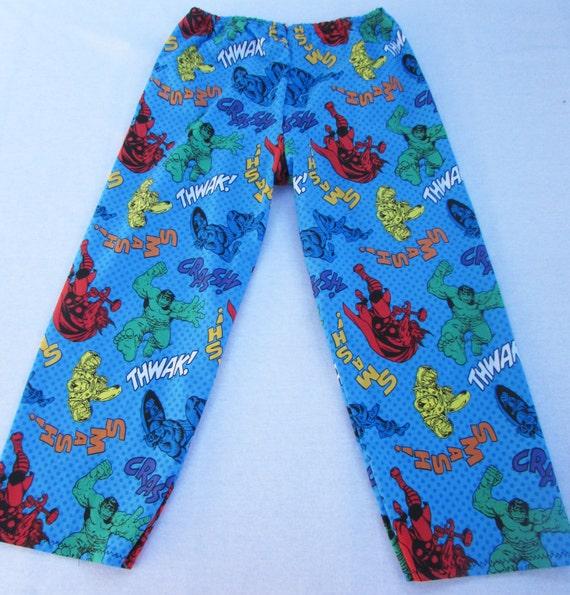 Avengers pajama cotton pants sizes 1/2T to XL men