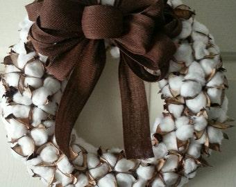 "18"" cotton wreath"