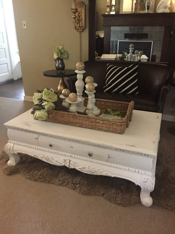 Distressed Coffee Table Chalk Paint