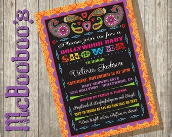 Bollywood Inspired Baby Shower Invitations