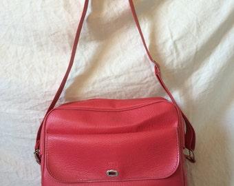 Sears Bright Pink Vinyl Shoulder Bag