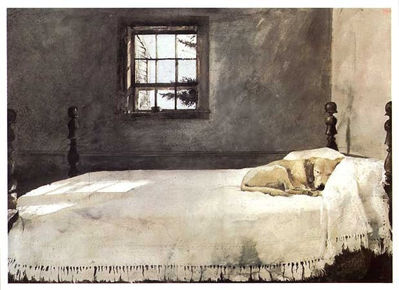 items similar to vintage master bedroom by andrew wyeth dog sleeping