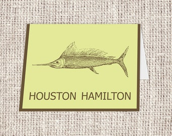 Sword Fish Fold-over Note Card