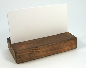 Rustic Business Card Holder