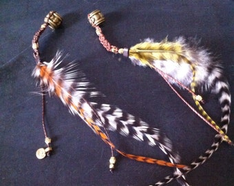feather dreadlocks beads, rastas, dreads decoration