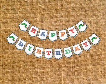 Hungry Caterpillar Happy Birthday Banner - Digital File - INSTANT DOWNLOAD
