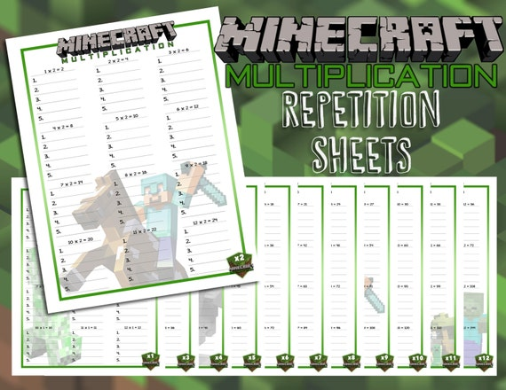 Multiplication Repetition Activity Worksheets