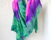 """silk scarf hand-painted natural silk, size 27"""" by 69"""" hand painted scarf. Christmas Gift, hand painted scarf, hand painted silk"""