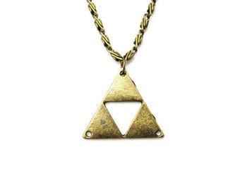 Triforce  Necklace , Zelda Necklace , Triforce Jewelry , Legend of Zelda Necklace , Zelda Jewelry Metal Triforce