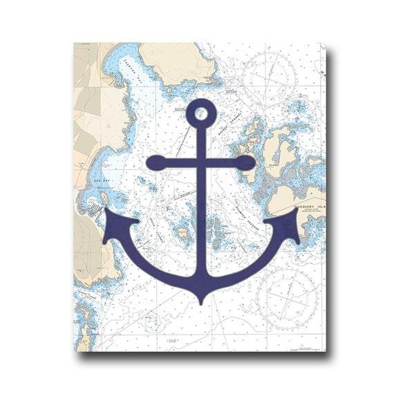 Anchor Art Nautical Room Nautical Nursery Art For Bathroom