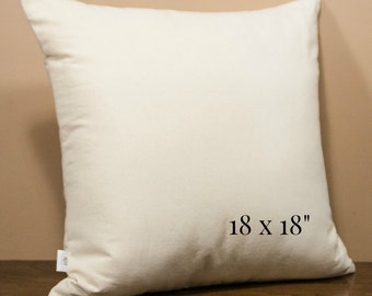 Pillow Insert, Organic Cotton, 18x18