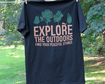 Explore your outdoors!  Get outside with this earth friendly tee!