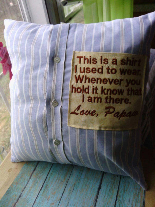 Memorial Grief Pillow Memory Pillow Memorial Pillow By
