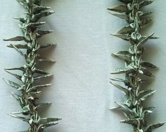 Origami Money Crane Lei Made with 75 One Dollar Bills Ready to Ship With Free Shipping