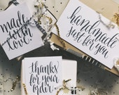 Calligraphy Labels for Handmade Items