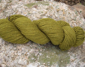 Olive Green- DK weight- Border Leicester yarn- 100% wool