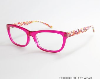 French Style Translucent Shocking Pink Whimsical Frame