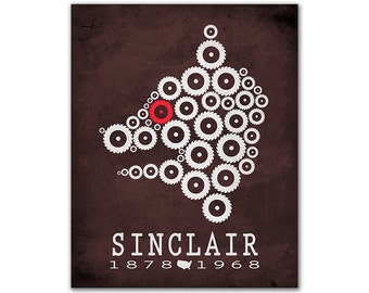 Upton Sinclair The Jungle - Animal Abuse Suffering Meat Packing Cutting Pigglet Red Eye Reading Gift Ideas Bookish Decor American Author