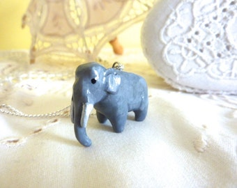 African Elephant Pendant Totem