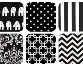 Black Cotton Fabric Swatches - FREE SHIPPING  - Premier Prints - Heavy Weight Decor Cottons