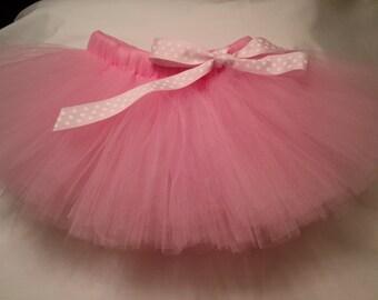 Pink Tutu, light pink tutu, pink baby tutu, baby tutu, infant tutu, toddler tutu, newborn tutu, 1st birthday tutu, birthday tutu, girls tutu
