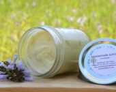 NATURAL LOTION - Whipped Shea Body Butter, homemade cream, essential oils, moisturizer, skin care, gift for her 8oz