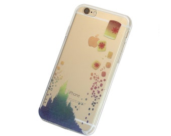 iPhone Floating Lantern Festival Case - Your choice of Soft Plastic (TPU) or Wood
