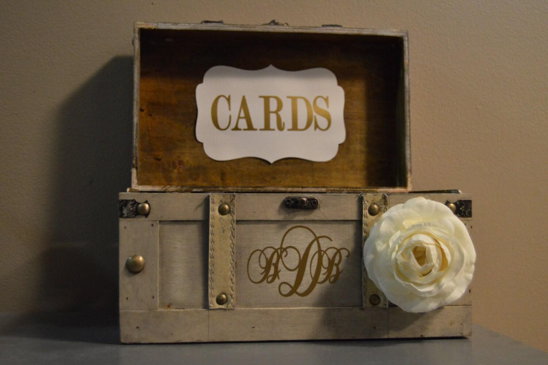 Vintage Wedding Gift Card Box : Medium Vintage Wedding Card Box Holder Medium Rustic Wedding