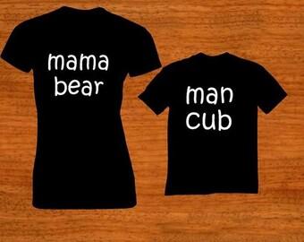 Mama bear/ man cub Set