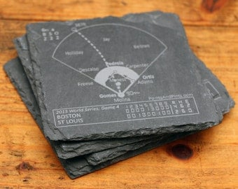 Red Sox 2013 World Series - Slate Coasters (Set of 4)