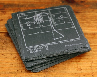 Texas A&M Greatest Plays - Slate Coasters (Set of 4)