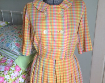 Vintage  multicolored checked dress