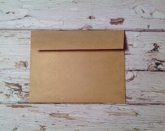 10 small Kraft paper envelopes, USPS mailable size envelopes, small envelopes, stationary, plain kraft paper envelopes, stationery