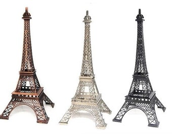 "Eiffel Tower, Eiffel Tower Cake Topper, Eiffel Tower Statue, Paris Theme Party 10"" Inch."