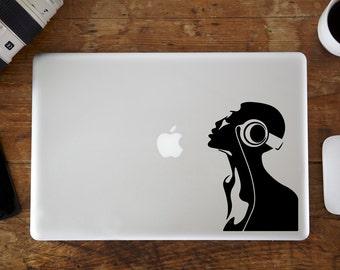 DJ Headphones MacBook Decal
