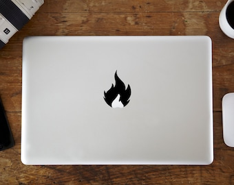 Fire MacBook Decal