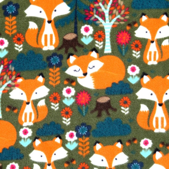 On Sale One Week Only Fox Fleece Fabric By By