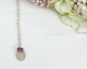 Catkin Pendant with Garnet