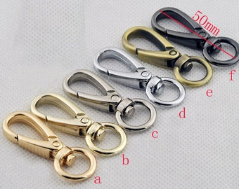2 inch 50mm  ,6 color(gun,silver,golden,anti brass) Swivel snap hook high quality.8 Pcs