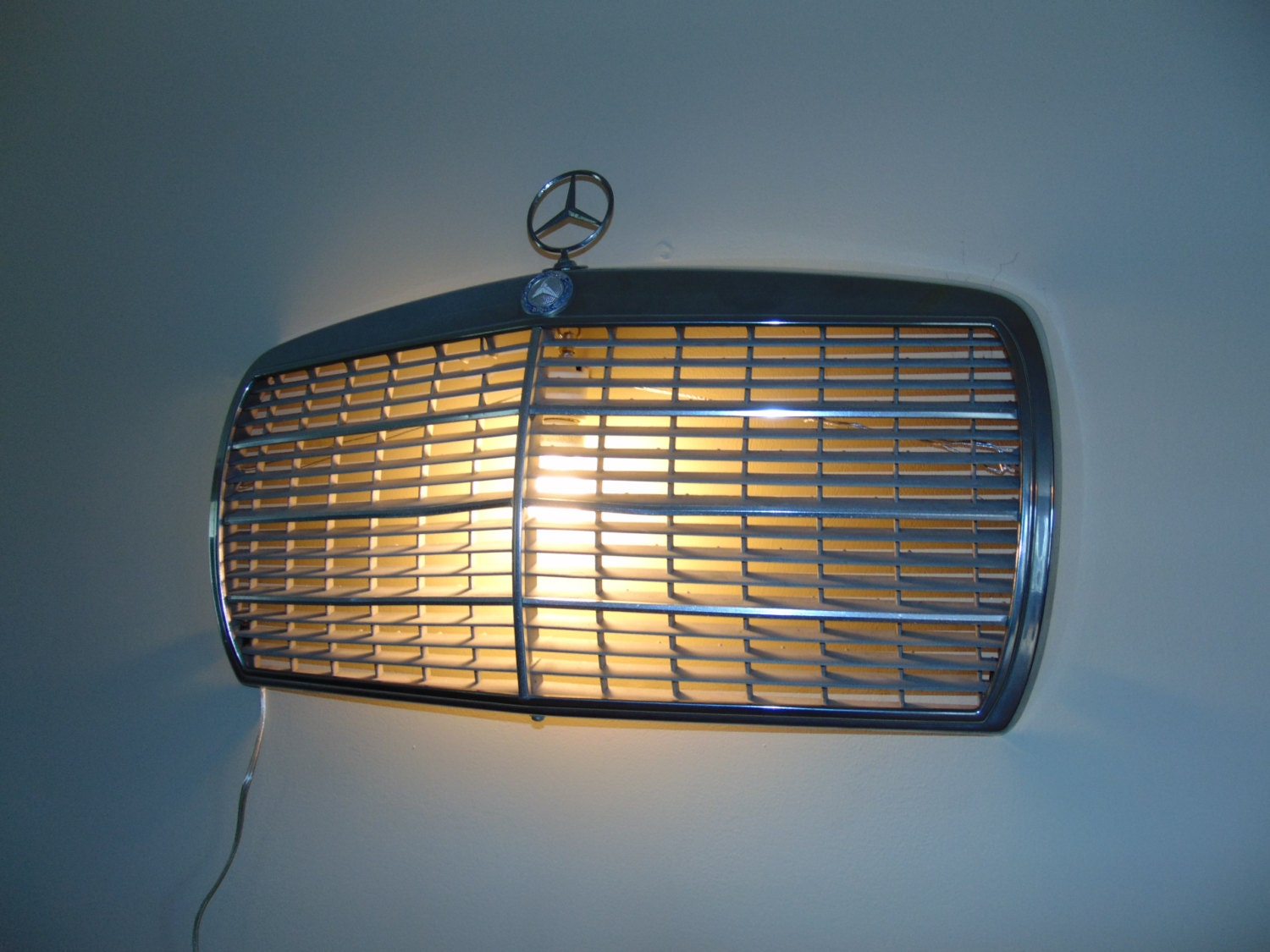 Vintage mercedes benz chrome grille wall light scone for Mercedes benz grille
