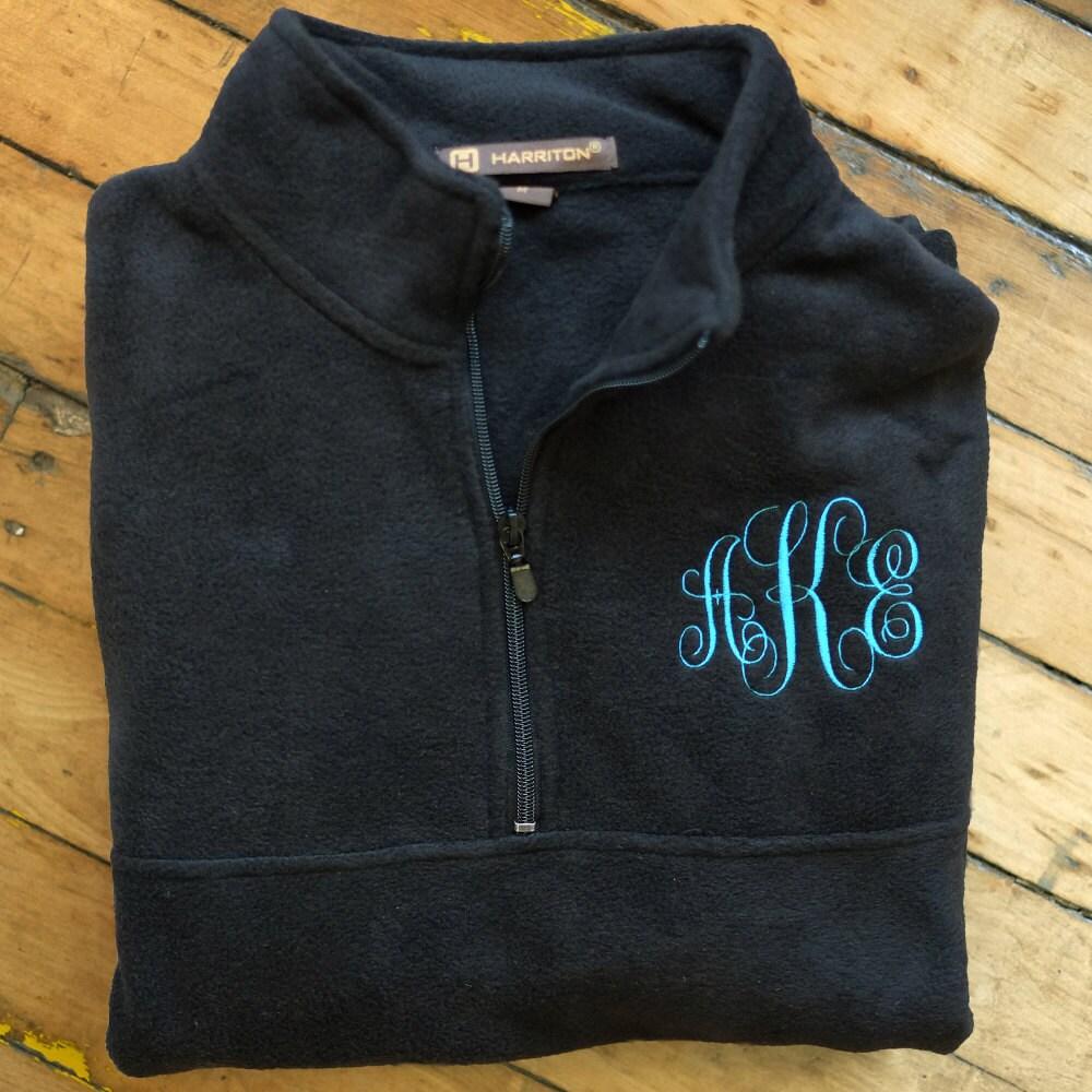 monogrammed fleece jacket monogram sweatshirt monogram