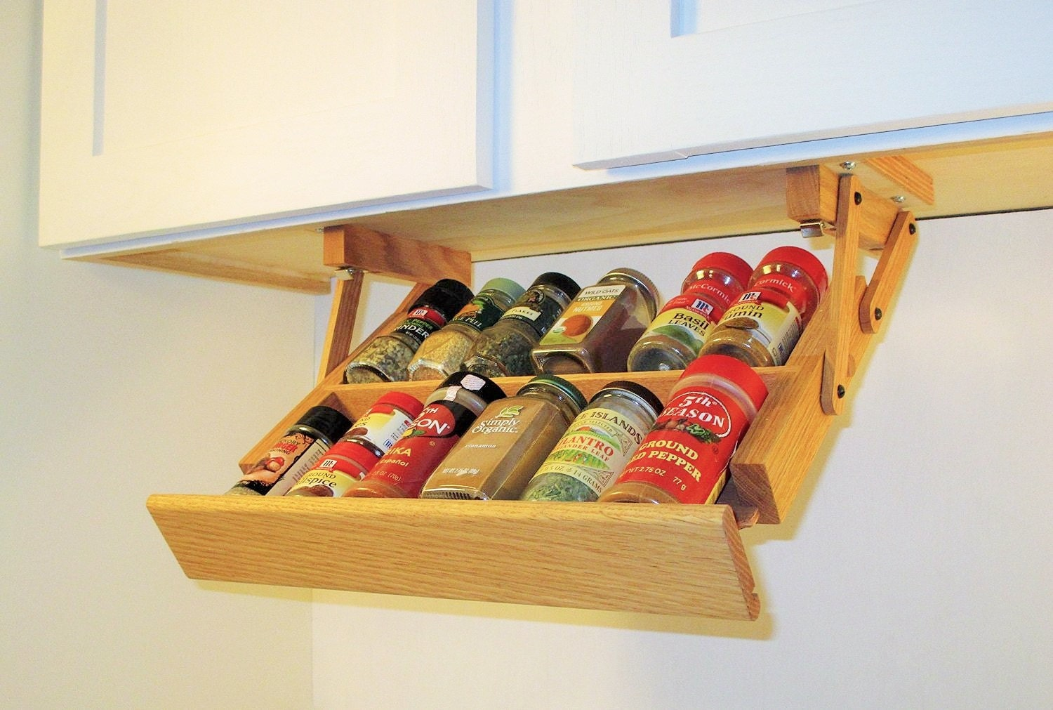 under cabinet mounted mini spice rack by spiceracksandmore
