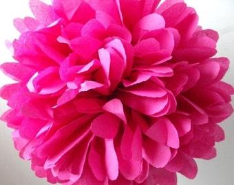 "Paper pom pom - Pink - 14.5"""