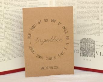 Van Gogh Quote Graduation Card : Brown Kraft Paper