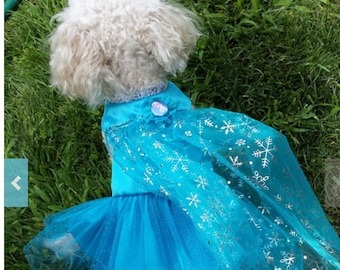 Elsa Dog Costume Pet Dog Cat